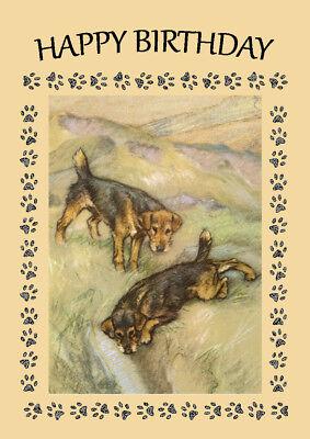 LAKELAND TERRIER DOG BIRTHDAY GREETINGS NOTE CARD