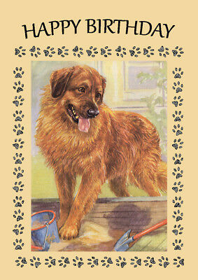 LEONBERGER GREAT BIRTHDAY GREETINGS NOTE CARD