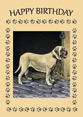 MASTIFF DOG GREAT BIRTHDAY GREETINGS NOTE CARD