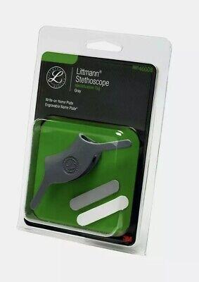 Littmann Stethoscope - Identification Tag - Gray Engravable Name Plate New