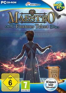 Maestro: Finsteres Talent (PC, 2015, DVD-Box) PC-Wimmelbild-Spiel neuwertig - Apperting, Deutschland - Maestro: Finsteres Talent (PC, 2015, DVD-Box) PC-Wimmelbild-Spiel neuwertig - Apperting, Deutschland