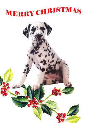 DALMATIAN SINGLE DOG PRINT GREETING CHRISTMAS CARD