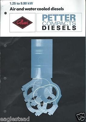 Equipment Brochure - Petter - 1.25 To 9.9 Kw Compact Diesel Engine E2702