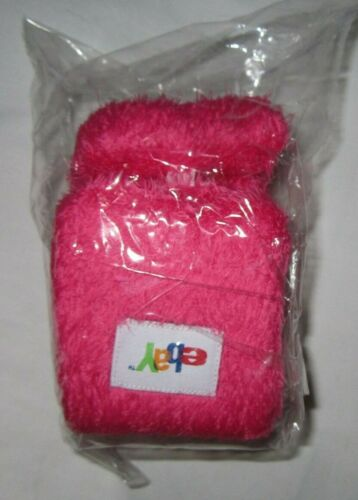 EBAY IT LOGO PINK FUZZY PLUSH REAR MIRROR CAR DANGLING Collectible Large Dice