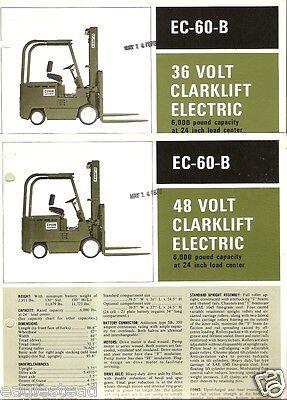 Fork Lift Truck Brochure - Clark - Ec-60-b - 3648 V Electric 1970 2 Itemlt110