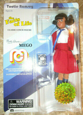 MEGO TOOTIE RAMSEY FIGURE FACTS OF LIFE KIM FIELDS MARTY ABRAMS #285/10000 LOW - Disney Princess Facts