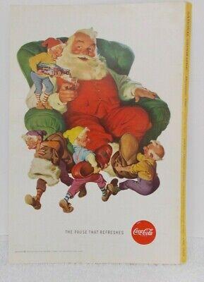 """1960 COKE COCA-COLA AD Santa Elves Boots  6 5/8"""" x 10"""" -Evinrude Starflte"""