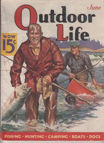 Vintage JUNE 1937 OUTDOOR LIFE magazine hunting fishing  E.F. Wittmack cover