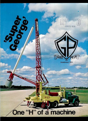 Very Rare Original 1974-75 Gus Pech Super George Drilling Rig Dealer Brochure