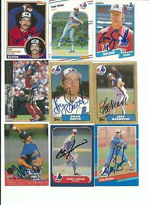 MONTREAL    EXPOS      9   CARD   AUTOGRAPHED   LOT