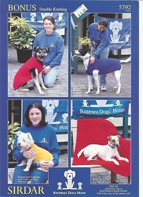 Dog Blanket & Coat Double Knitting Patterns Sirdar #5792 Small Medium Large