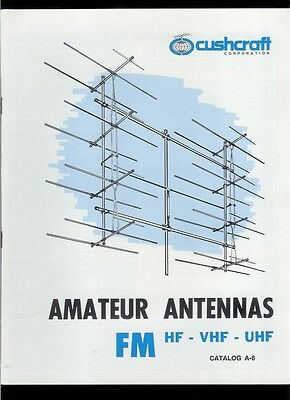 Rare Vintage Original Cush Craft HF Ham Radio FM VHF UHF Antenna Catalog. Buy it now for 19.99