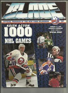 February-21-1994-Islanders-vs-Capitals-Hockey-Program-Acton