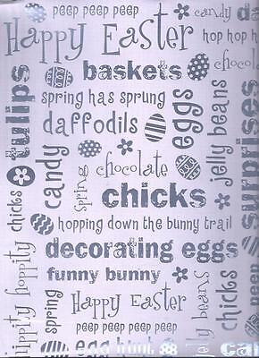EASTER PHRASES Foil 12 x 12 Paper - 2 Sheets](Easter Paper)