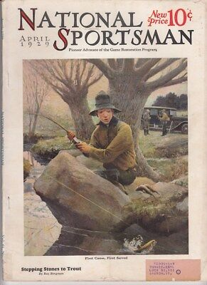 Vintage APRIL1929 NATIONAL SPORTSMAN magazine hunting trapping fishing