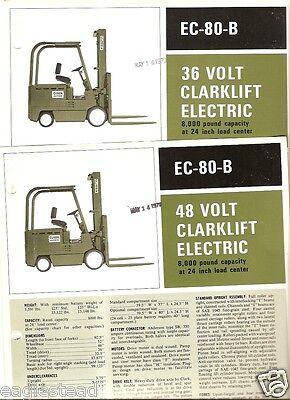 Fork Lift Truck Brochure - Clark - Ec-80-b - 3648 V Electric 1970 2 Item Lt112