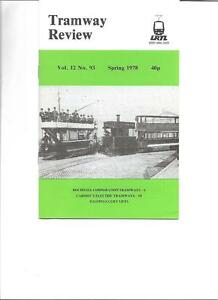 Tramway Review Magazine Vol. 12 No. 93 Spring 1978 Rochdale Corp Tramways SN