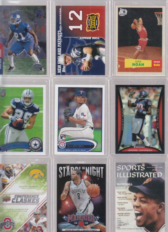 Huge Sports Card Collection Premium Lot Darvish Brady Jeter Manning Mantle Rose
