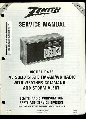 Zenith Am Fm Table Model Radio C835. Zenith R425 Fmamwb Storm Alert Table Radio Rare Orig Factory Service Manual. Wiring. Zenith Radio Schematic 7h920 At Scoala.co