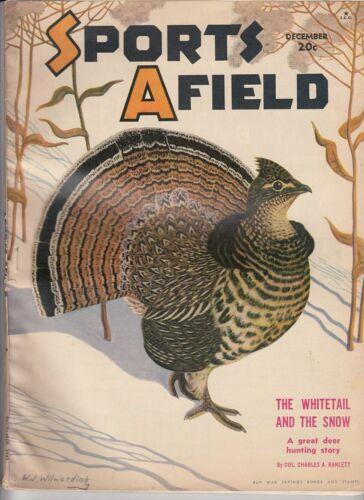 Vintage DECEMBER 1942 SPORTS AFIELD magazine hunting fishing waterfowl woodcraft