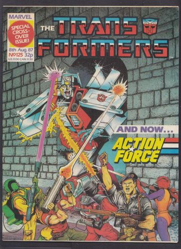 Marvel UK The Transformers August 1987 Issue 125