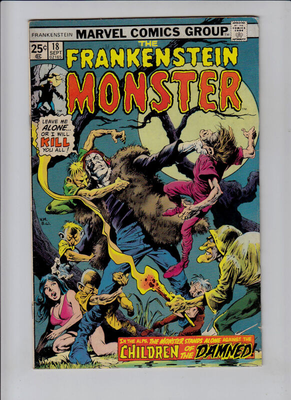 FRANKENSTEIN  # 18    MARVEL COMICS GROUP
