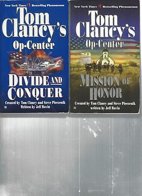 TOM CLANCY - OP-CENTER - DIVIDE AND CONQUER - A LOT OF 2 BOOKS