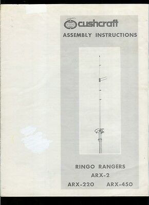 Vintage Factory Cush Craft Ringo Rangers ARX 2 220 450 Antenna Owner's Manual. Buy it now for 14.99