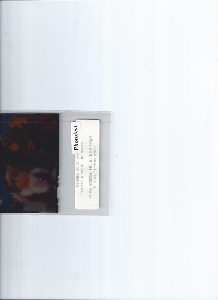 JIM HENSON MUPPETS Christmas Vintage 4 X 5 Transparency - $54.99 ...