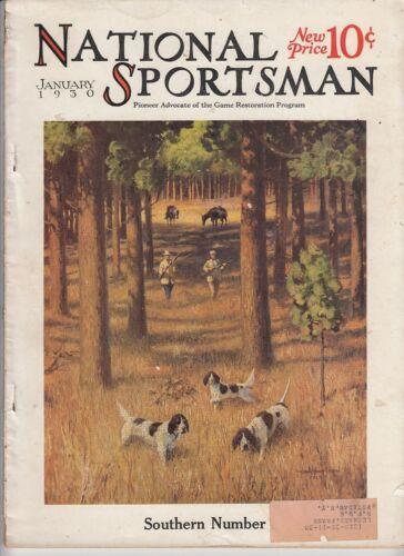 Vintage  JANUARY 1930 NATIONAL SPORTSMAN magazine hunting fishing dogs woodcraft