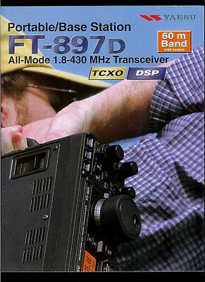"""full color Yaesu FT-897 Technical Manual With all 11/""""X17/"""" Foldout Diagrams"""