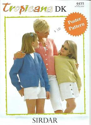 Tropicana Double Knitting Patterns 21 Easy Tops & Sweaters Sirdar #5577 24-46