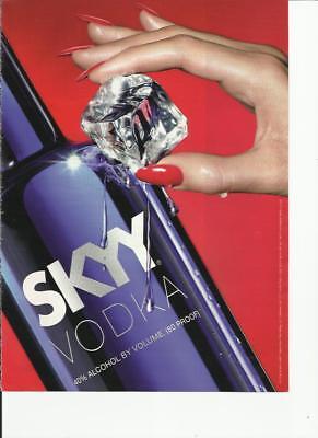 "SKYY ""Ice Cube image"" Vodka-  2010 print magazine ad"