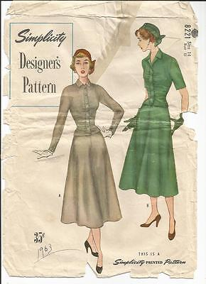 Vintage Simplicity Designer Skirt & Top Pattern 32 B #8221