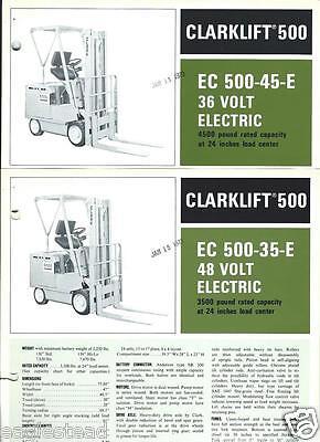 Fork Lift Truck Brochure - Clark - Ec500 35 Et Al Electrics C1973 6 Item Lt161