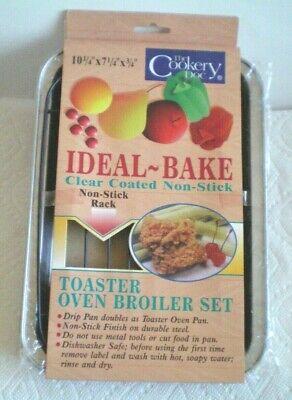 Non-Stick Rack Toaster Oven Broiler Set Kitchen Clear Coated Non Stick Non-stick-rack
