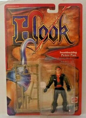 MOC Hook Peter Pan Swashbuckling Figure Mattel 1991 Free Shipping!](Peter Pan Sword)