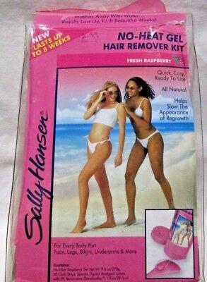 Sally Hansen No Heat Hair Remover Raspberry Gel Set New in Original Case - Heat Gel Hair Remover