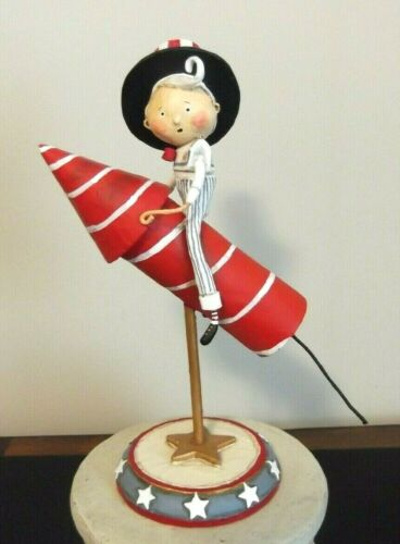ESC & Co DAPPER DAN ROCKET MAN patriotic figurine, Lori Mitchell 11031 NIB