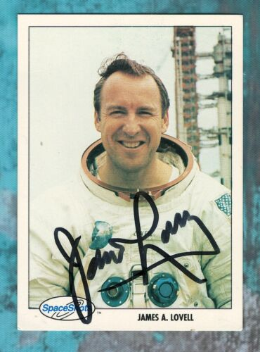 Jim Lovell Authentic Autographed NASA Astronaut Apollo 13 1991 Space Shots Card