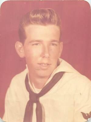 Gay Interest Young Sailor Boy Man Portair 1950's Pompador Hair Style Color Photo