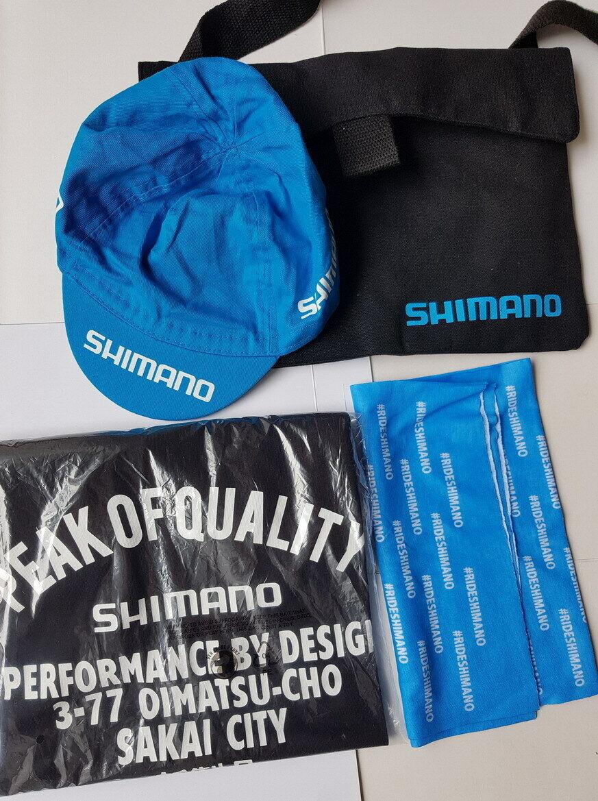 SHIMANO Werbemittel Tasche / Kappe / Tuch / T-Shirt // Nagelneu // unbenutzt