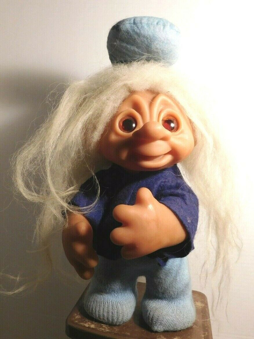 1982 Dam Troll Doll 243 Made In Denmark 10 Posable  - $12.00