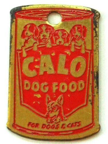 Vintage CALO Dog Food Can Advertising Dog Tag