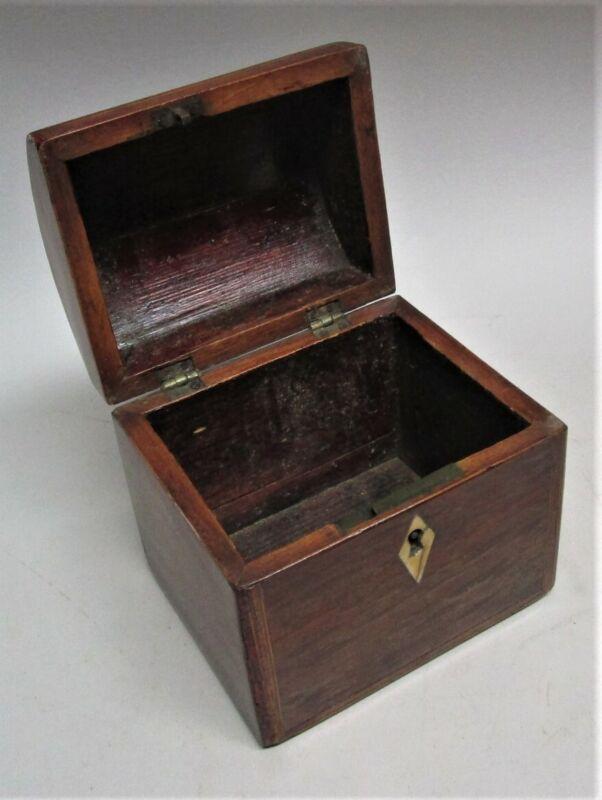 "Fine Diminutive 5"" x 5"" Georgian ENGLISH Inlaid Box  c. 1830  antique"
