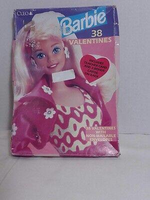 Barbie 1994 38 Valentines Day Cards NEW SEALED VTG 90s Cleo Mattel