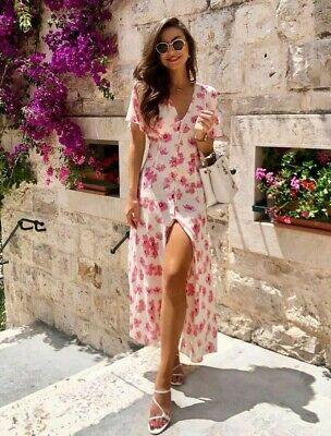 Zara SS19 Floral Print Midi Dress 2624/445 Size M NWT