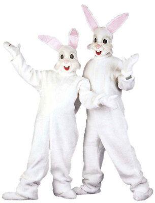 Bunny Deluxe White Kostüme (White Bunny Hasenkostüm Deluxe NEU - Damen Karneval Fasching Verkleidung Kostüm)