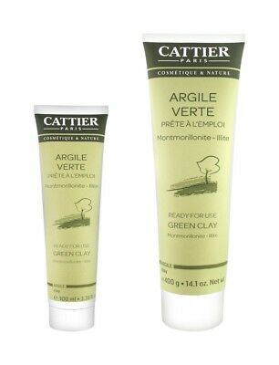 - Cattier Paris Green Clay 100ml/400g -Ready for Use -Mask & Poultice -Face & Body