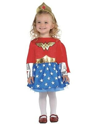 Wonder Woman Baby Girls' Costume Bodysuit with Cape, - Wonder Woman Baby Kostüme